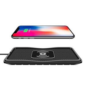 Image 3 - Cargador inalámbrico QI para coche, Cargador rápido de teléfono para samsung s9, iPhone XR 12 mini, 10W, 7,5 W, 5W
