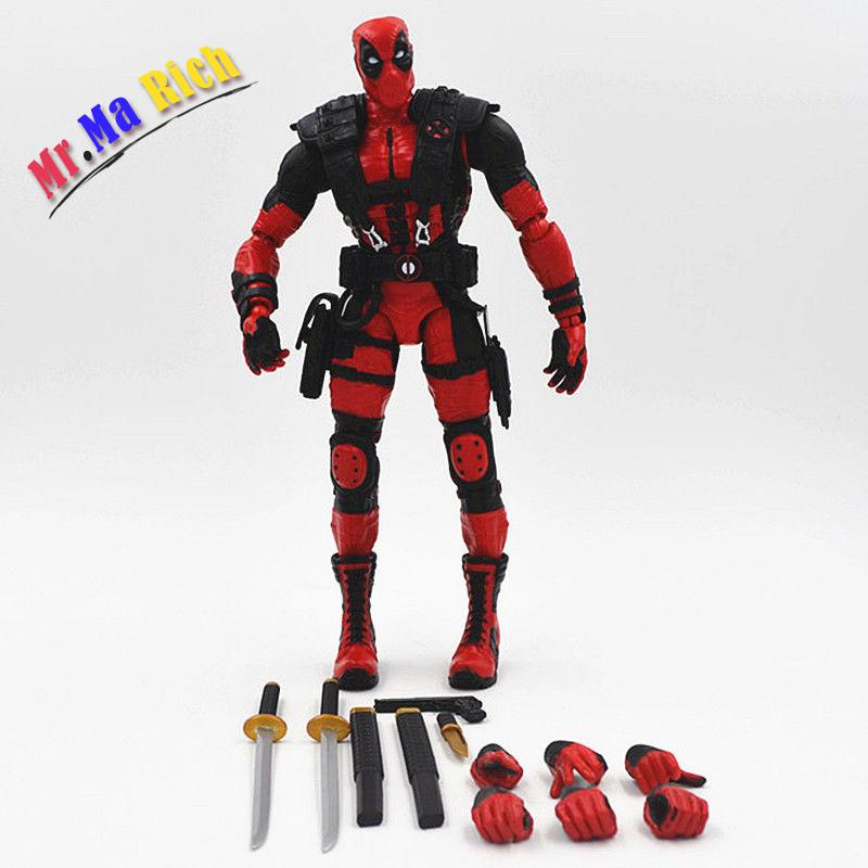 X-Man Deadpool Comic The Avengers Marvel Fire Toy 25cm Red Figuren Figur In marvel comics stan lee the new mutants 98 dead pool 1st appearance unsigned 11x17 comic cover photograph