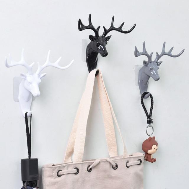 European Plastic Deer Statue Crafts Animal Ornament Shelf Rack Stand Figurines Home Decor Living Room Decor Wedding Gift 3