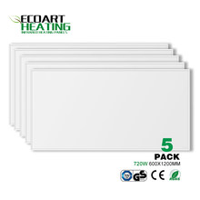 5pcs 720W Infrared Heater Panel Carbon Crystal White PET Heating Panel Home Office Yoga Studio 600*1200mm(China)