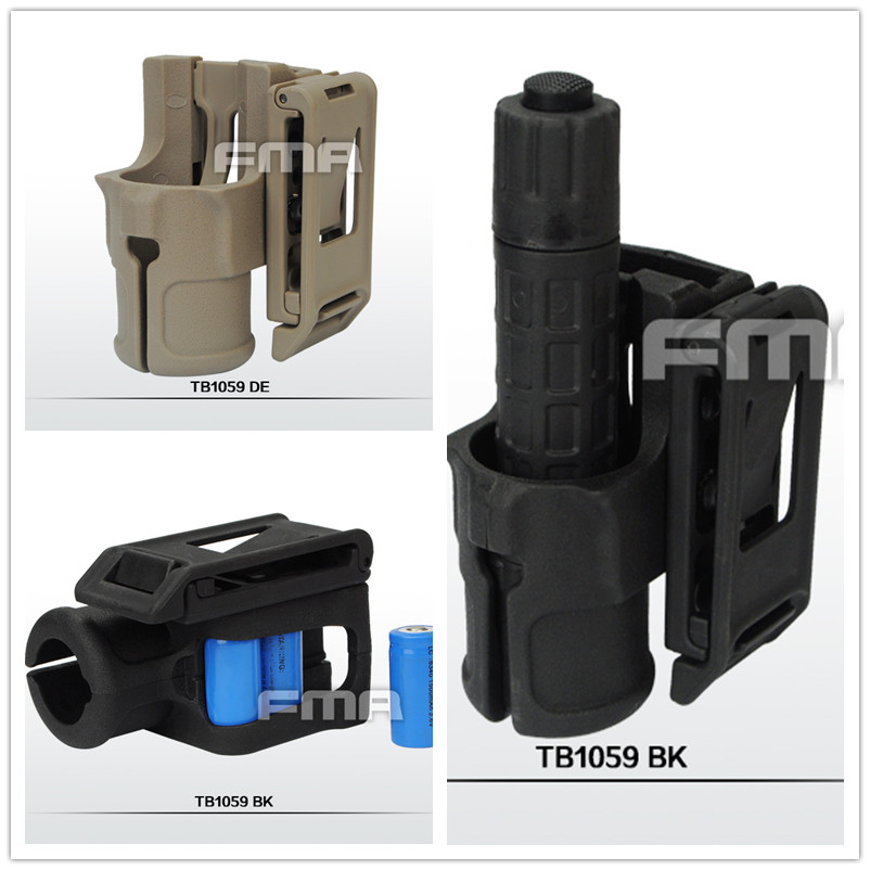FMA V85 Polymer Multi-angle Speed Flashlight Holster Hunting Airsoft Military Paintball Accessories Torch Mount TB1059 BK/DE/FG