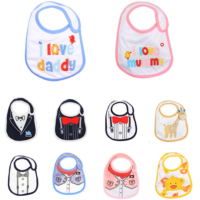 Baby Bibs Cute Cartoon Pattern Toddler Baby Waterproof Saliva Newborn Burp Cloth 20 styles