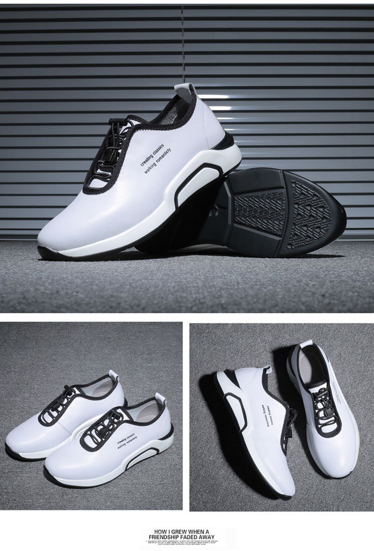 Spring Autumn Men Casual shoes Genuine leather Breathable Male Sneakers Lace-Up Flats Sport shoes zapatos de hombre 02A 11