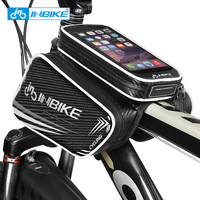 INBIKE Cycling Front Tube Frame Bag Touch Screen Bike Pannier Bicycle Double Phone Pouch for 5.7 6.2 inch Cycling Accessories