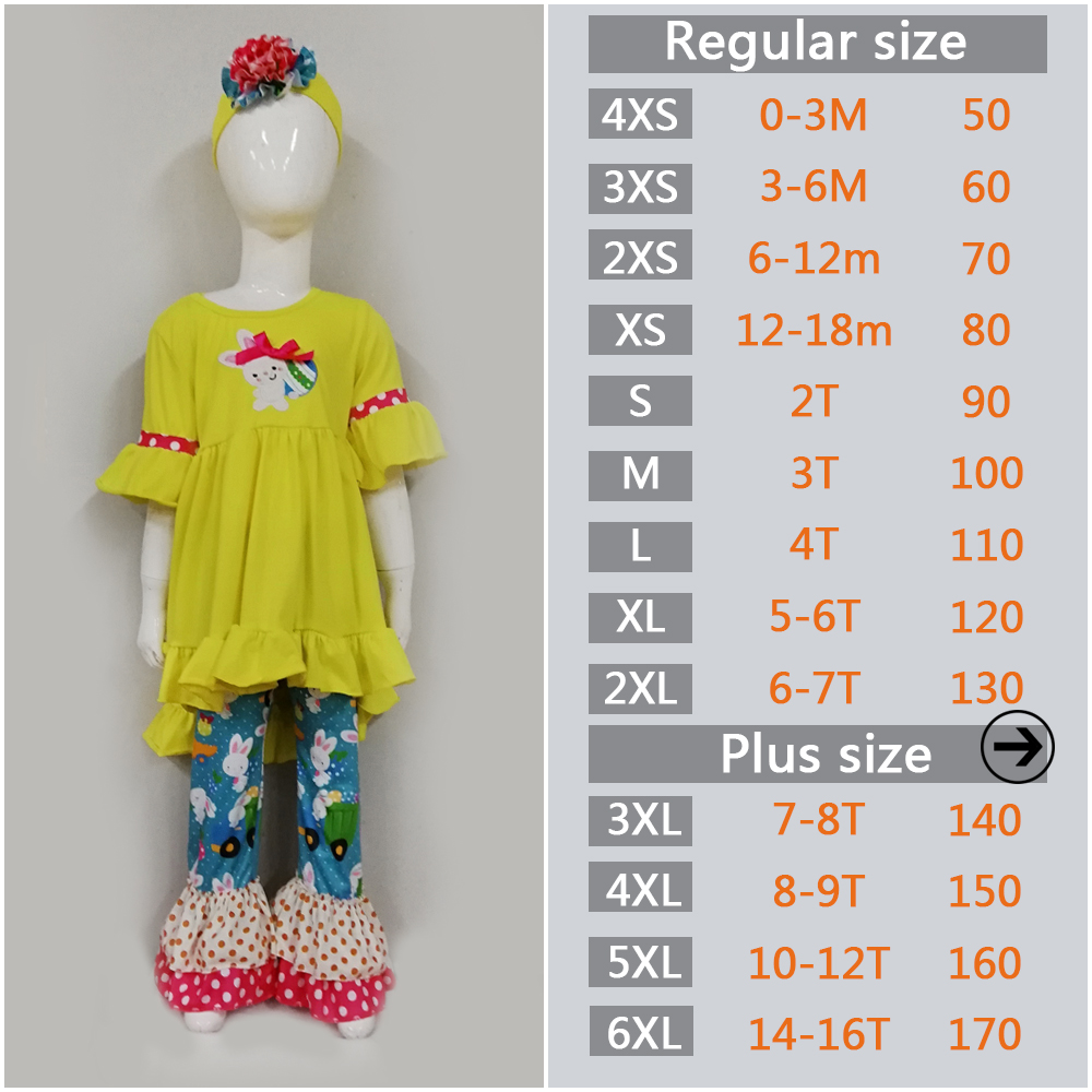 277efe8c7e8a New 2019 Baby Clothes Easter Boutique Toddler Outfits Rabbit Pattern Kids  Ruffle Pants Children Clothing Sets -in Clothing Sets from Mother   Kids on  ...