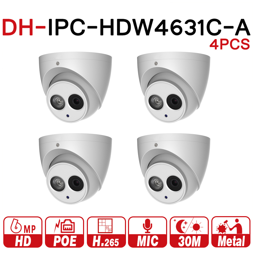 Wholesale DH 6MP IP Camera IPC HDW4631C A Upgrade From IPC HDW4431C A POE Mini Dome