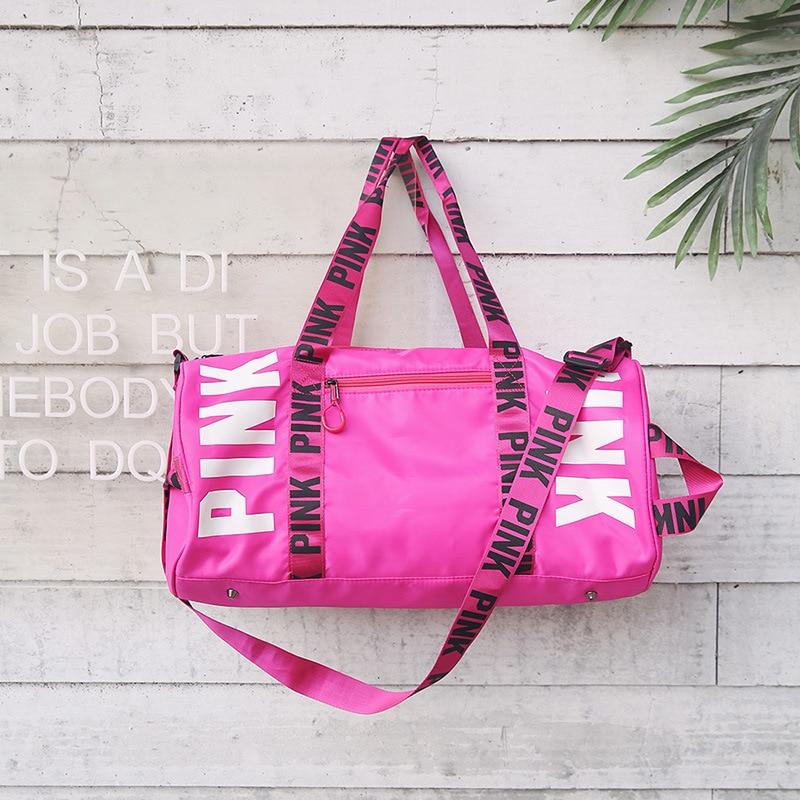 2018 rose black Sport Gym Bag Women Fitness Waterproof Shoulder Bag Luxury Handbag Training Yoga Duffel Bag for Travel Outdoor