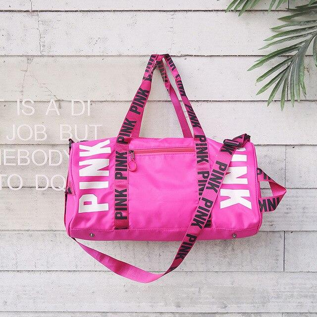 dc8f5ac7bc234a 2018 rose black Sport Gym Bag Women Fitness Waterproof Shoulder Bag Luxury  Handbag Training Yoga Duffel Bag for Travel Outdoor
