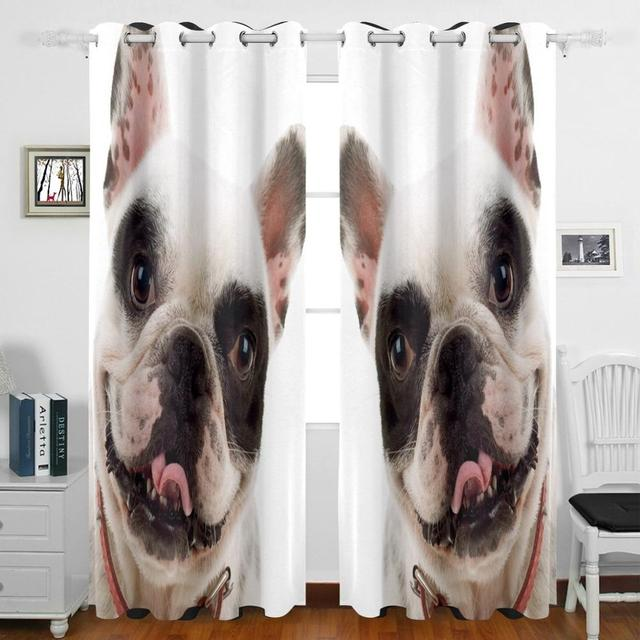 Cat And Dog Curtains Drapes Panels Darkening Blackout Grommet Room Divider  For Patio Window Sliding Glass