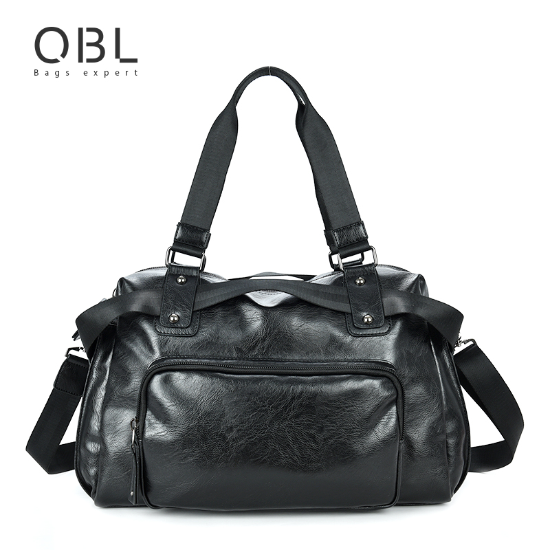 QiBoLu Handbags Man Bags Business Travel Tote Messenger Crossbody Shoulder Bag for Men Sacoche Homme Bolsa Masculina MBA16 casual canvas women men satchel shoulder bags high quality crossbody messenger bags men military travel bag business leisure bag