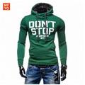 Men's Casual Hip Hop Streetwear Sweatshirt Letters Print Pullover Hoodies Sweatshirts Cotton Tracksuit For Men Outerwear