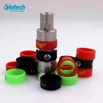 Glotech 100pcs New silicone rubber vape ring decorative band for 18650 mechanical mod 22mm mod rda rba vaporizer Atomizer