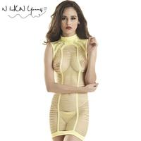 Sexy Lingerie Hot Bodysuit Women Bodystocking Open Crotch Mini Dress Underwear Mesh Hollow Out Fishnet Sleepwear qq226