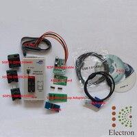 Rt809f USB ПК ремонта Инструменты программист + 7 Адаптеры для сим карт + SOP16 SOP20 IC клип ЖК дисплей Reader ЖК дисплей BIOS ISP/ USB/VGA