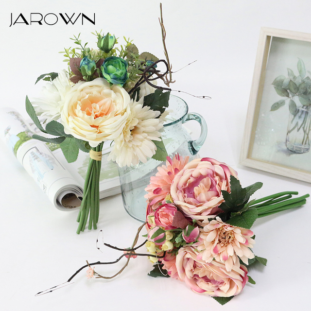 Artificial Wedding Bouquets for Brides New design Bruidsboeket Flors ...