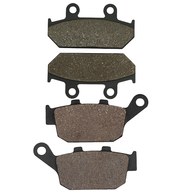 Cyleto Motorcycle Front and Rear Brake Pads for <font><b>HONDA</b></font> NX650 <font><b>NX</b></font> 650 Dominator 1992-1996 XRV650 XRV 650 Africa Twin 650 1988 1989 image