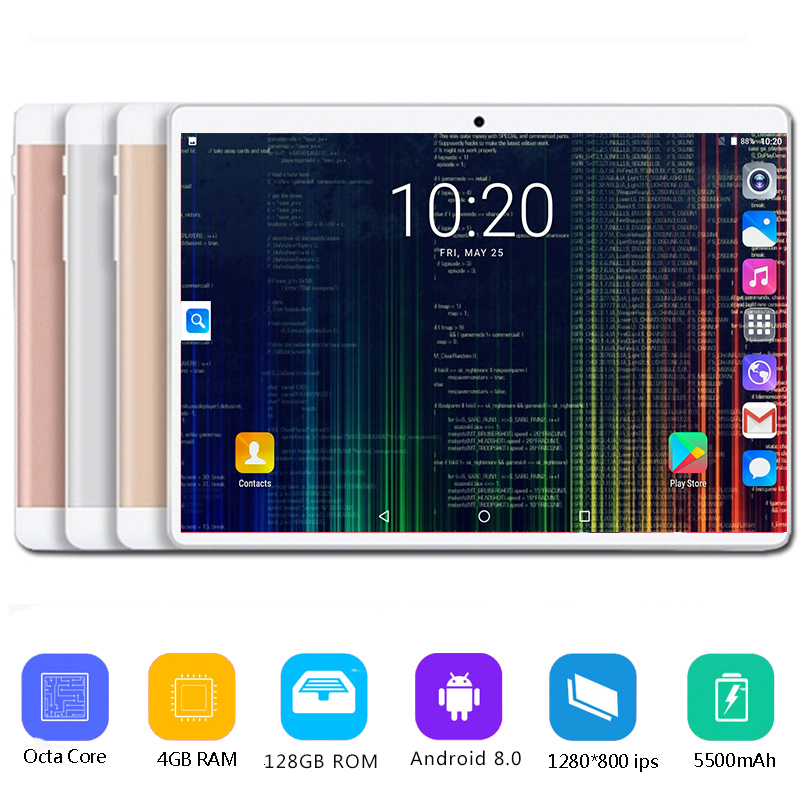 Brand New 10 Inch tablet Android 8 0 Octa Core 4GB RAM 64GB 128GB ROM 3G