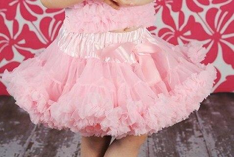 Юбка-американка для девочек Петти юбка-пачка для танцев желтый цвет пышная Мягкая юбка Юбка-пачка для девочек - Цвет: Pink
