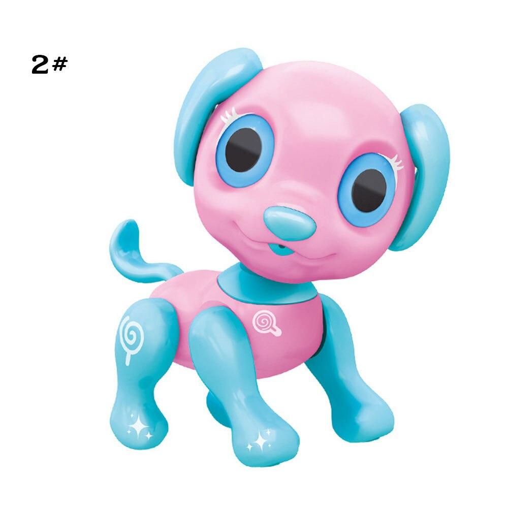 Сенсорный ответ пластиковый Умный щенок электронный питомец собака образовательный Декор Новинка разговор Крытый пазл крутой робот собака красивая - Цвет: pink