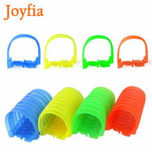 8/32 pces que brilham faixas de corrida que dobram flexível & fulgor com brinquedos do diodo emissor de luz caçoa acessórios do carro terno do túnel para a trilha da largura de 6cm