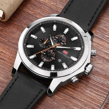 MINI FOCUS Fashion Chronograph Men Watch Sport Waterproof Men's Watches Quartz Watches Man Clock Wristwatch Luxury Brand Leather все цены
