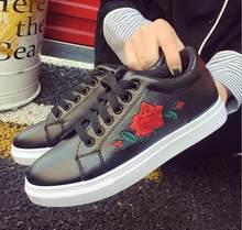 casual que 40 mujeres moda caminan respirable Código 36 bordado Rosa mocasines zapatos suaves blanco mN8nv0wO