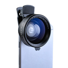 APEXEL Объектива 2 в 1 0.63X Широкоугольный Объектив с Зажимом 37 мм Резьба 12.5X Макро Высокой Четкости Мобильный Телефон Объектив для IOS Android