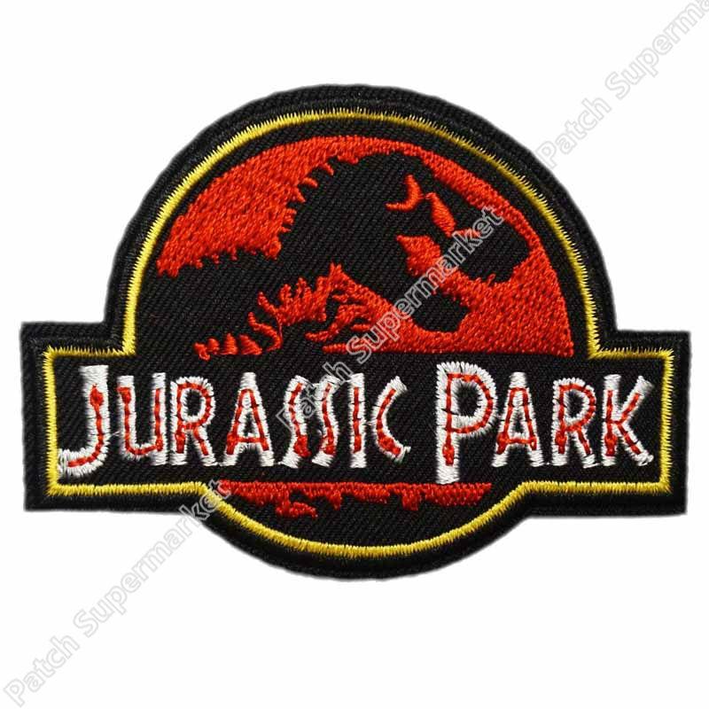 Jurassic Park Prop Themepark TV MOVIE Series Uniform punk rockabilly applique sew on iron on patch