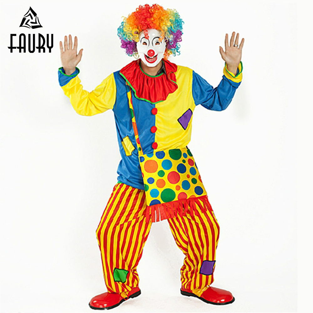 Creative 2018 Clown Clothes Latest Funny Halloween Cosplay Costume Clown Show Costume Make-up Dance Clown Suit Men And Women No Wigs