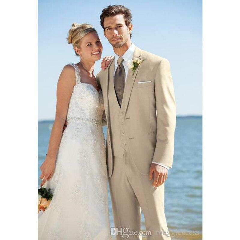 Classic senior men's suit yellow lapel single-breasted men's business office suite prom dress (coat + pants + vest) custom made