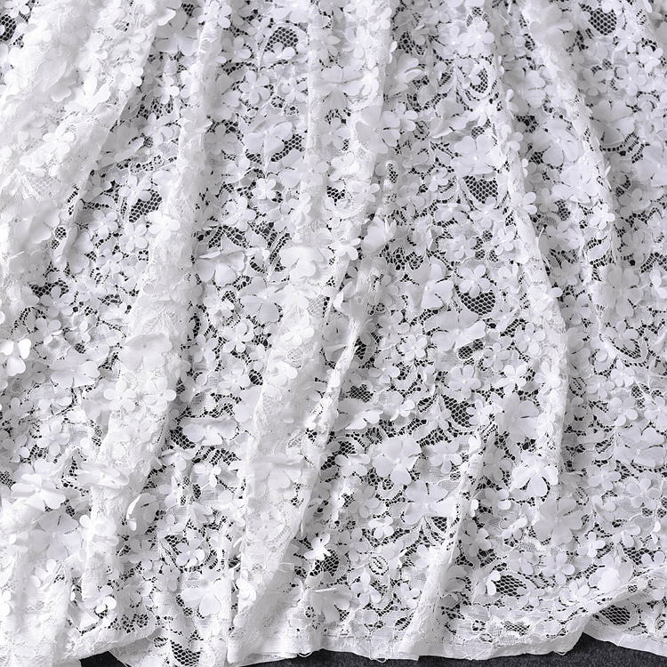 French African Embroidery Lace Fabric for wedding dress Embroidered applique party dresses fabrics DIY curtain bridal tulle Lace in Lace from Home Garden