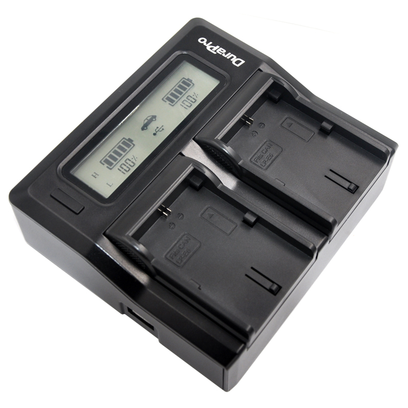 DuraPro LP-E6 LP E6 LPE6 LCD Dual Rapid Camera Battery Charger For CANON DSLR EOS 60D 5D3 7D 6D 70D 5D Mark II SLR
