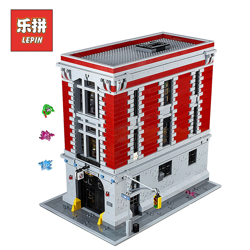 lepin 16001 Creative set the Firehouse Headquarters Compatible Legoinglys Movie 75827 Building Blocks Bricks Children Toys single the horror theme movie the walking dead mask hunter black friday jason scream killer building blocks toys for children