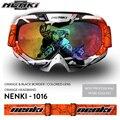 Gafas de motocross motocicleta casco visera estilo zorro moto casco gafas nenki 1016