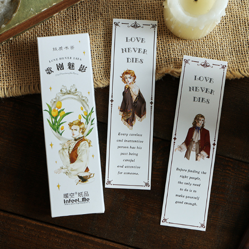 30pcs/box Phantom Of The Opera Student Bookmarks Decoration Stationery Paper Bookmarks Promotional Gift Office School Supplies