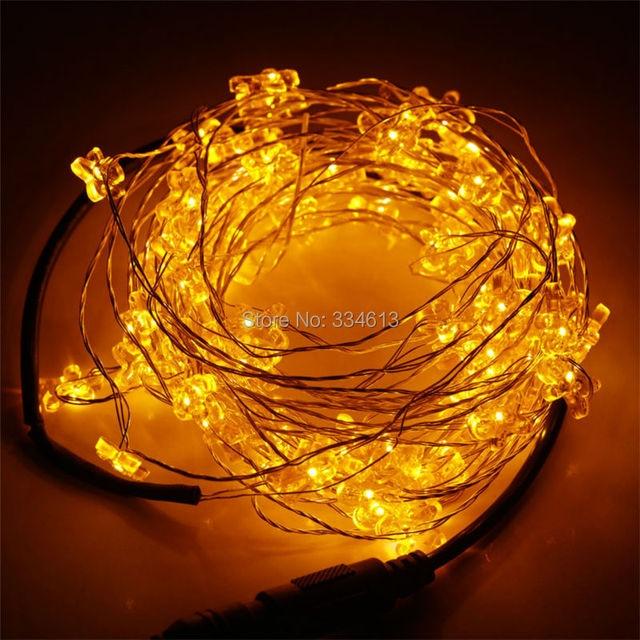 Snoer 8 M 80 LEDs Zilveren Draad Kerstboom Santa Pompoen Vormige LED ...
