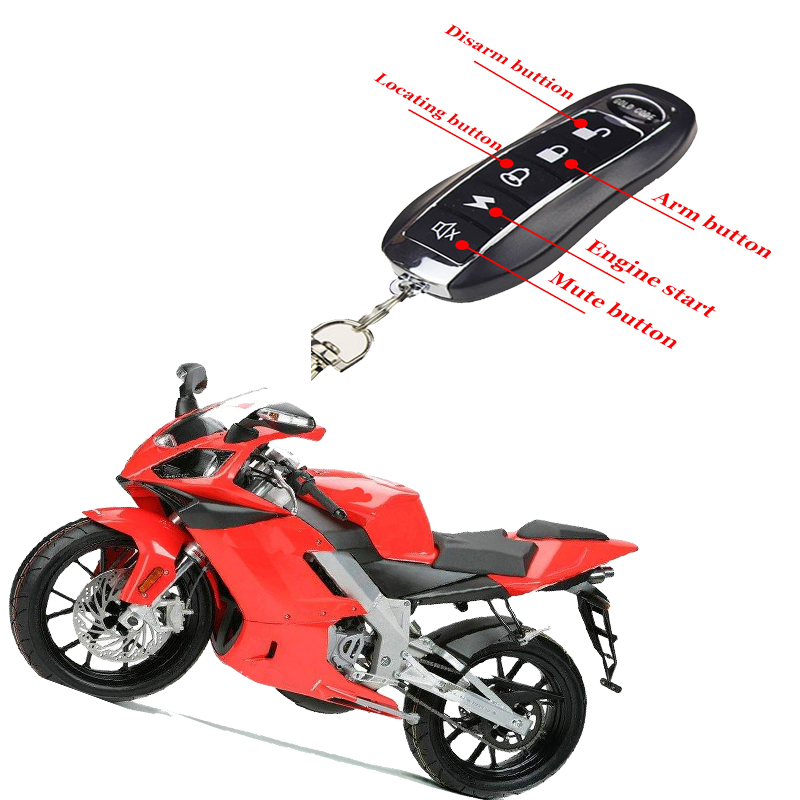 Universal One Way Alarm Keyless Entry System 12V Vibration Remind Anti-Theft Protect Burglar Lock Unlock Search Motorcycle Alarm