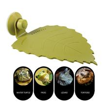 Multi-purpose Reptile Turtle Drying Platform Leaf Float Aquarium Decoration Rest Area With Suction Cup Easy To Climb
