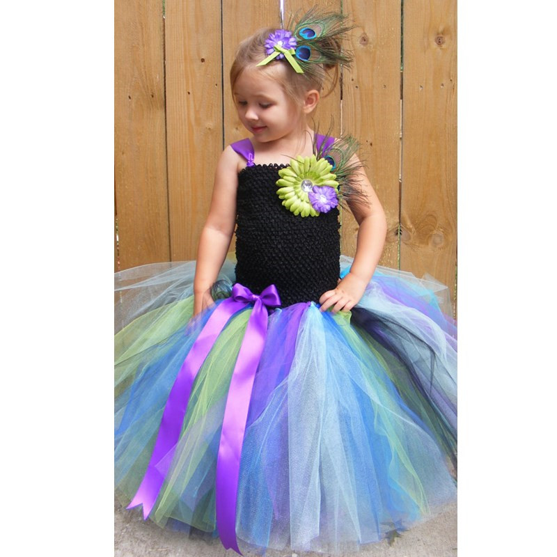 5a3ea3b69 Children Kids Baby Girl Princess Tutu Dress Fairy Tulle Flower Girl Dresses  For Wedding Birthday Girl Infant Party Peacock Dress - aliexpress.com -  imall. ...