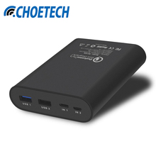 CHOETECH B616Q 10400mAh QC2.0 Two-way Fast Charge Power Bank for Samsung S6 S7 Xiaomi 5 Fast Charging Power Bank With Type-C