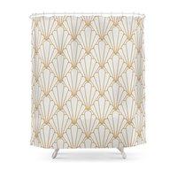 Art Deco Series Grey Gold Shower Curtain Waterproof Bathroom Shower Curtains Shower Accessories Curtains Home Decoration