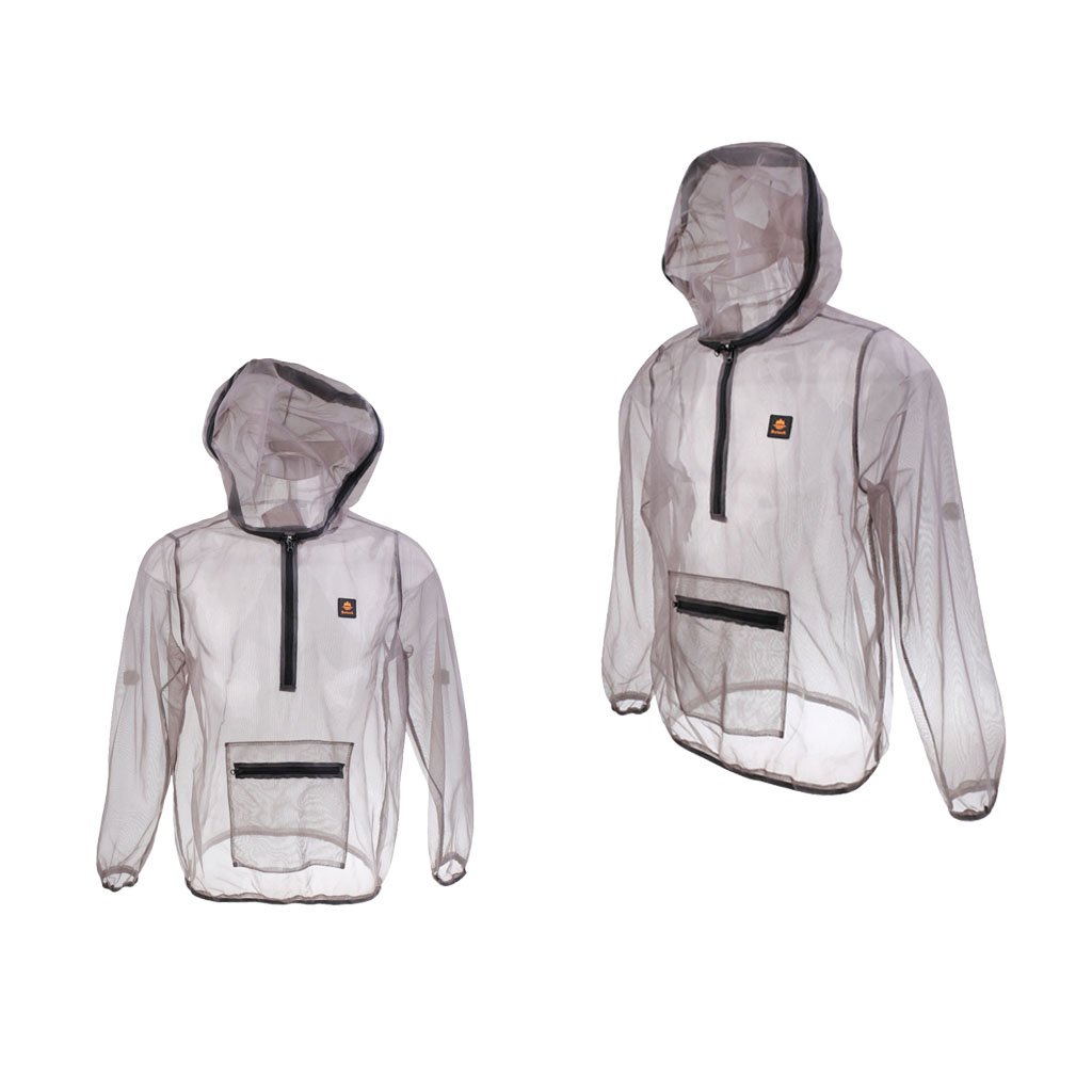 2 Pieces Woman and Men's Outdoor Anti-mosquitoes Mesh Hooded Jacket Bug Mosquito Clothing Tops Fishing Camping Hiking XXL XL