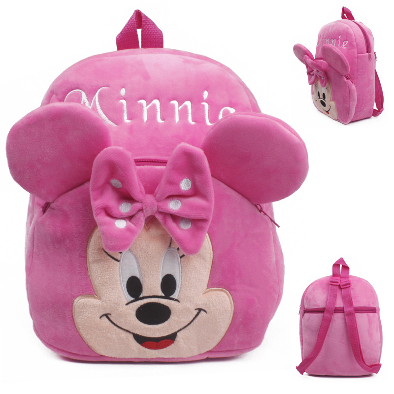 bef8bcbbbe Wholesale Cheap Bags For Kids Disney Toys Pink Anime Minnie Plush Backpacks  Cute Children School Bags Brinquedos Infantile Dj049-in Plush Backpacks  from ...