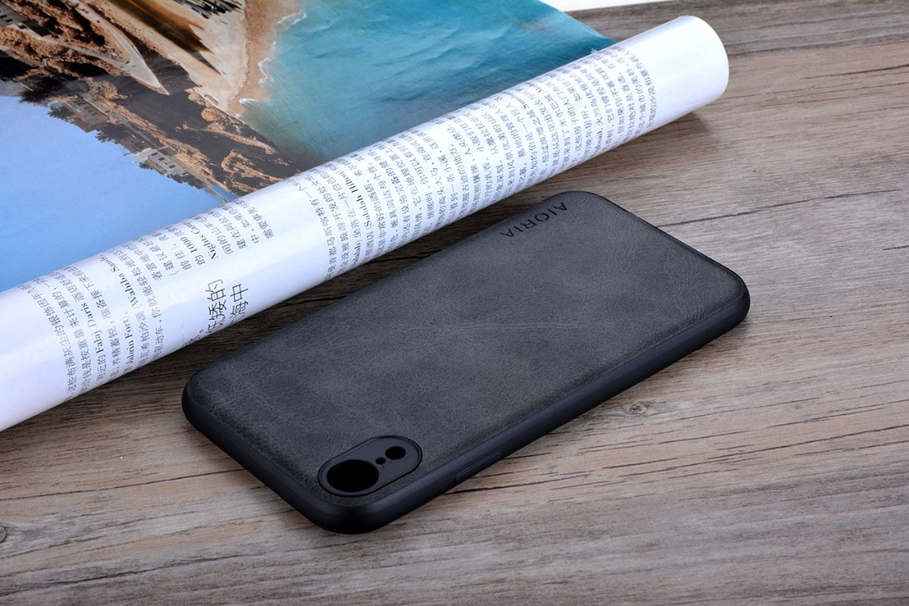 HTB1L5pRXiYrK1Rjy0Fdq6ACvVXav Case for iPhone XR X XS Max Luxury funda Vintage leather Skin cover hoesje for iphone xr x xs max phone case coque capa fashion