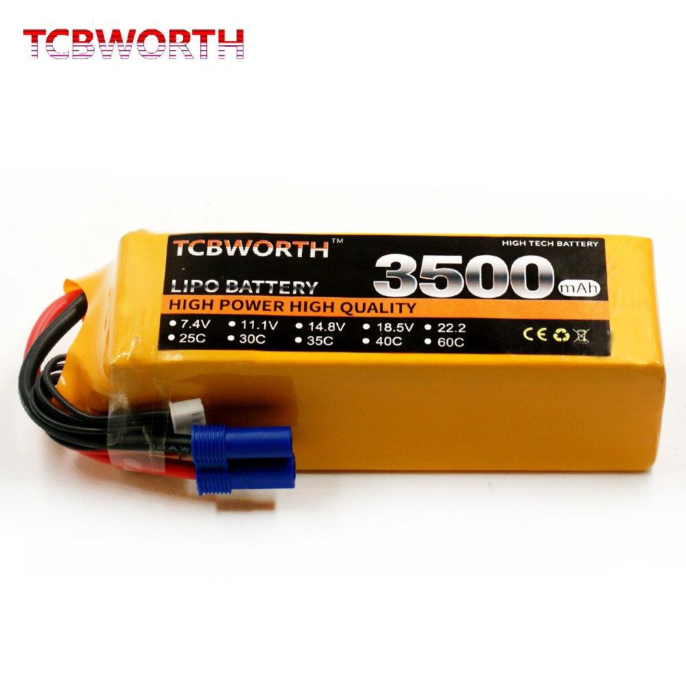 TCBWORTH 6 S RC Lipo batteria 22.2 V 3500 mAh 40C-80C Per RC Aereo Quadrotor Elicottero Drone Auto Barca Ricaricabile 6 S batteria