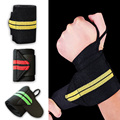 Weight Lifting Sports Wristband Gym Wrist Thumb Support Straps Wraps Bandage Fitness Training Safety Hand Bands  HB88