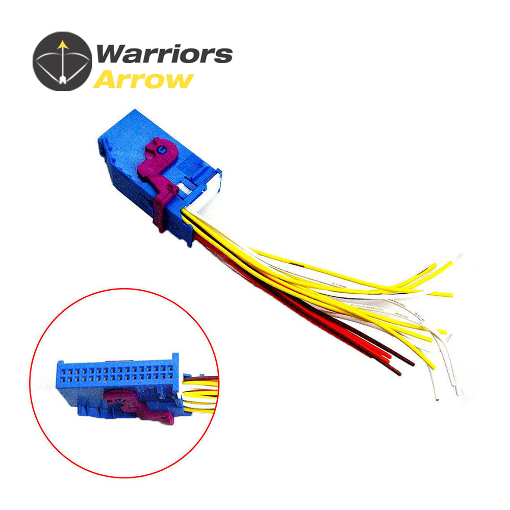 32 Pin Wire Harness Plug Adapter Socket Connector Blue For Audi A4 1984 Chevy C70 Wiring 1j0972977 1j0972977d A6 Q5 Vw Bora Jetta Passa 2013 2016