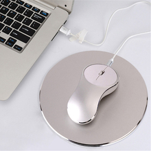 Rechargeable Mouse 1600DPI 2.4G Wireless Mice Aluminum Alloy Ergonomic Gaming Mouse with Round Mice Pad for ASUS Lenovo Acer