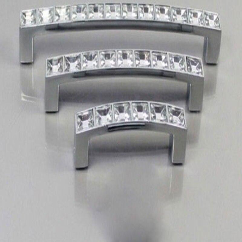 Modern Diamond Crystal Knob Cabinet Kitchen Wardrobe Cupboard Pull Handle Furniture Handle Knob
