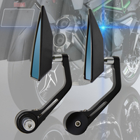 Universal Motorcycle Handlebar End Mirrors CNC Rearview Side end Mirror for bmw f800r Husqvanrna Tirumph vespa accessories fz6